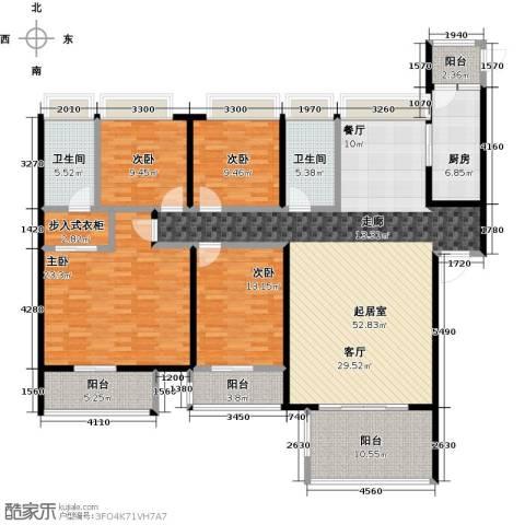 海悦湾4室0厅2卫1厨213.00㎡户型图