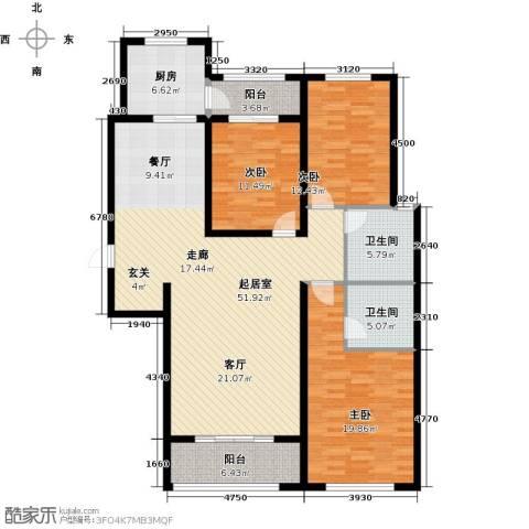 铂宫时代3室0厅2卫1厨138.00㎡户型图