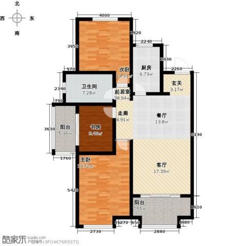 万行中心3室0厅1卫1厨124.00㎡户型图