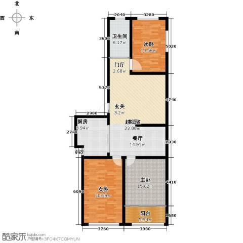 骏龙花园3室0厅1卫1厨126.00㎡户型图