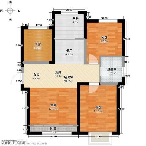 首创炫社区2室0厅1卫1厨101.00㎡户型图