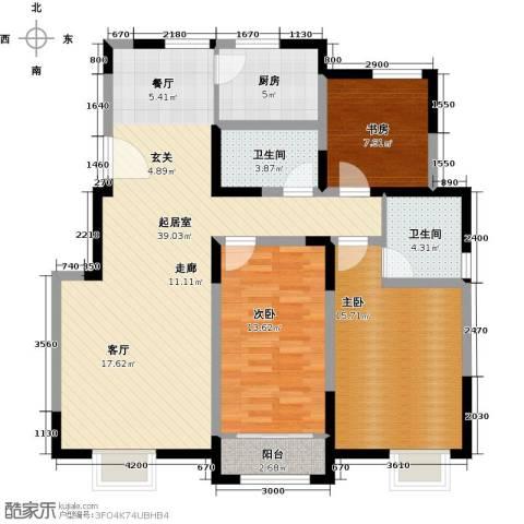 首创炫社区3室0厅2卫1厨127.00㎡户型图