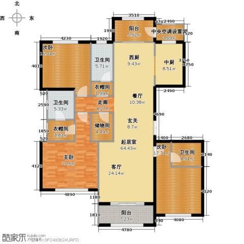廊坊孔雀城大公馆3室0厅3卫0厨179.00㎡户型图