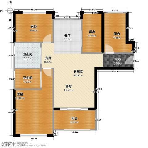 中科苑2室0厅2卫1厨122.00㎡户型图