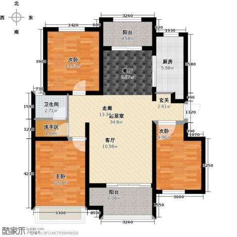 润德天悦城3室0厅1卫1厨119.00㎡户型图