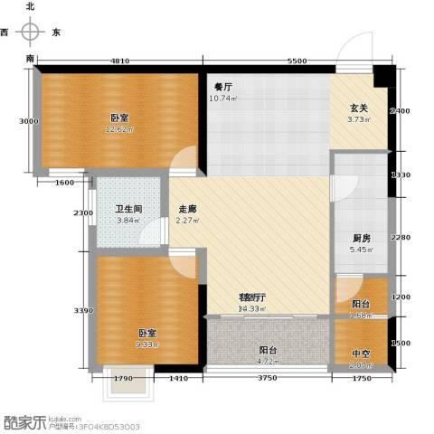 布鲁斯国际新城1厅1卫1厨101.00㎡户型图