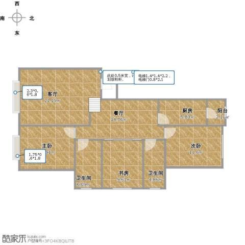 联想科技城3室2厅2卫1厨119.00㎡户型图