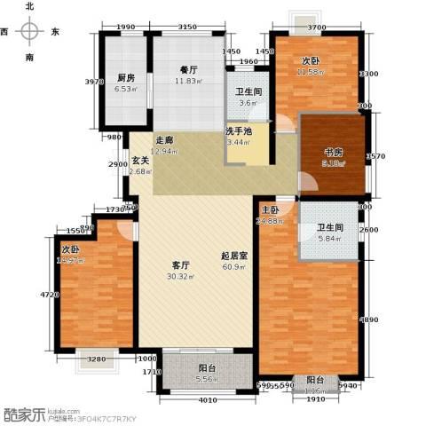 中冶世家4室0厅2卫1厨176.00㎡户型图