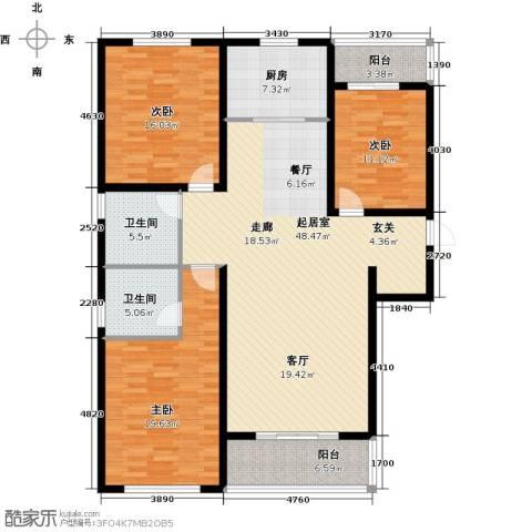 铂宫时代3室0厅2卫1厨139.00㎡户型图