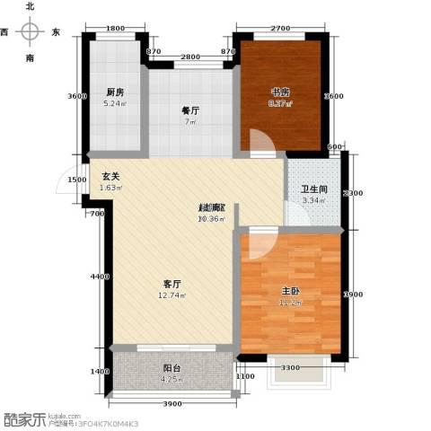 外滩森林2室0厅1卫1厨92.00㎡户型图