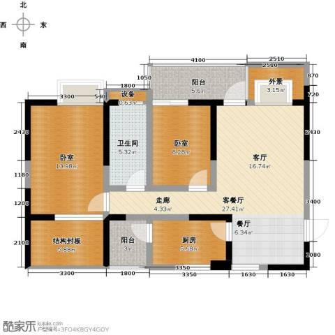 布鲁斯国际新城1厅1卫1厨115.00㎡户型图