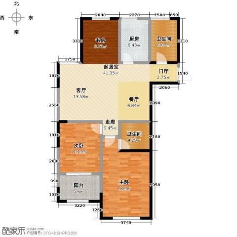 云厦阳光福邸2室0厅2卫1厨103.00㎡户型图