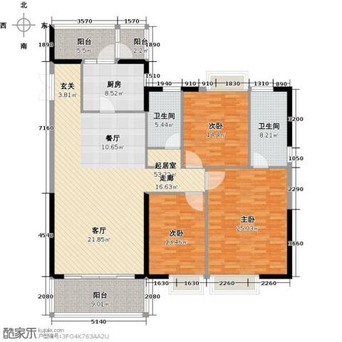 南昌雅颂居3室0厅2卫1厨200.00㎡户型图