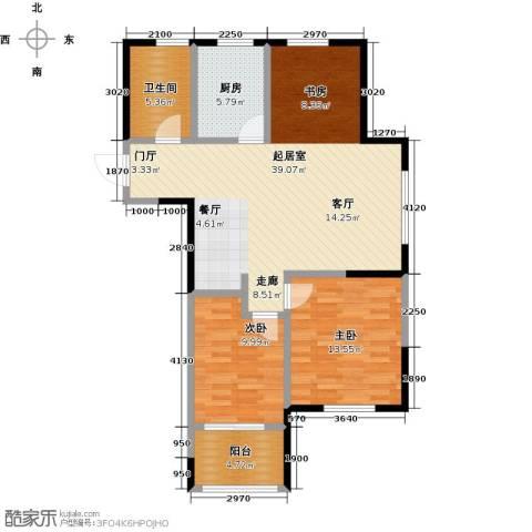云厦阳光福邸2室0厅1卫1厨87.00㎡户型图