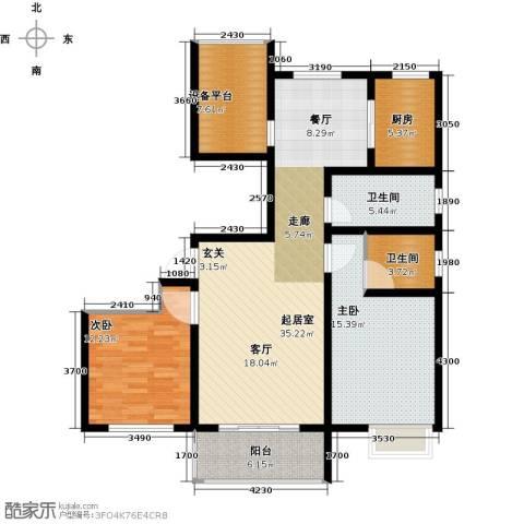 滨江国际2室0厅2卫1厨105.00㎡户型图