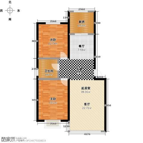 睿瀛佳苑2室0厅1卫1厨100.00㎡户型图