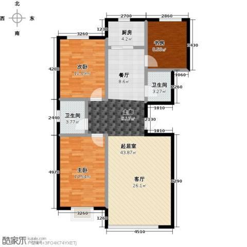 睿瀛佳苑3室0厅2卫1厨126.00㎡户型图
