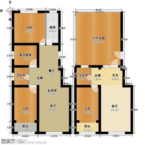 丽景华庭3室1厅2卫1厨168.00㎡户型图