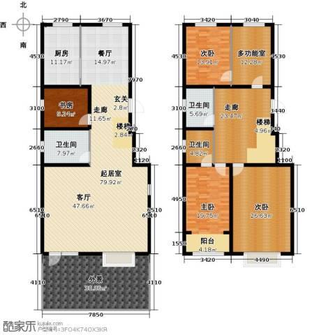 丽景华庭4室0厅3卫1厨337.00㎡户型图