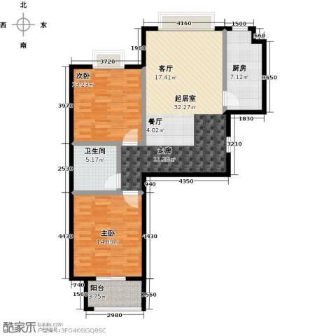 栋盛苑2室0厅1卫1厨107.00㎡户型图