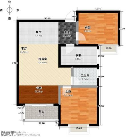 栋盛苑2室0厅1卫1厨96.00㎡户型图