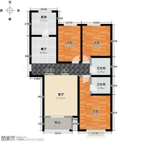 丽晶名邸3室0厅2卫1厨129.00㎡户型图