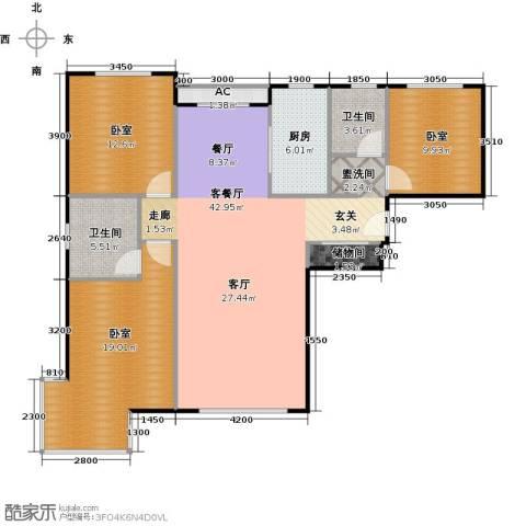 中央豪庭1厅2卫1厨138.00㎡户型图
