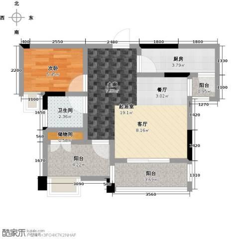英伦世家1室0厅1卫1厨60.00㎡户型图