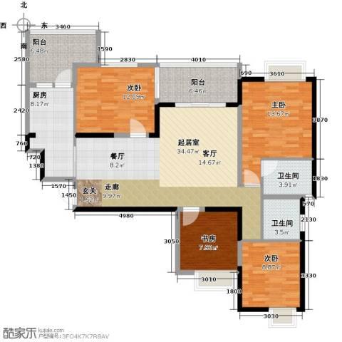 西城国际4室0厅2卫1厨149.00㎡户型图