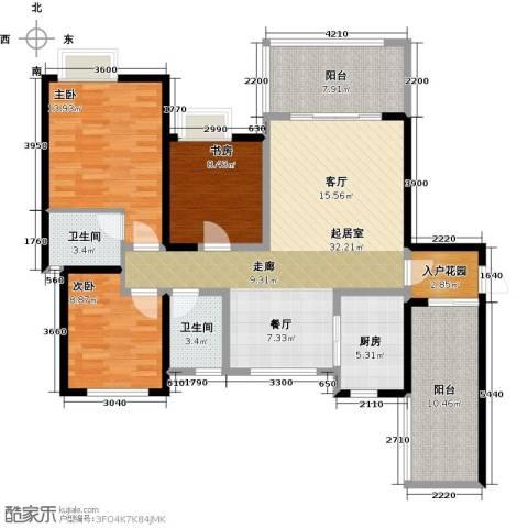 西城国际3室0厅2卫1厨139.00㎡户型图