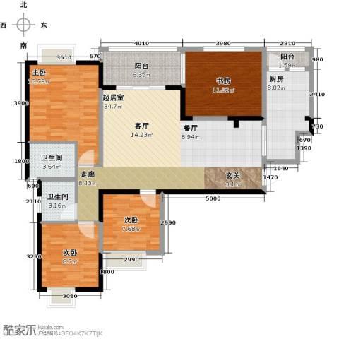 西城国际4室0厅2卫1厨142.00㎡户型图