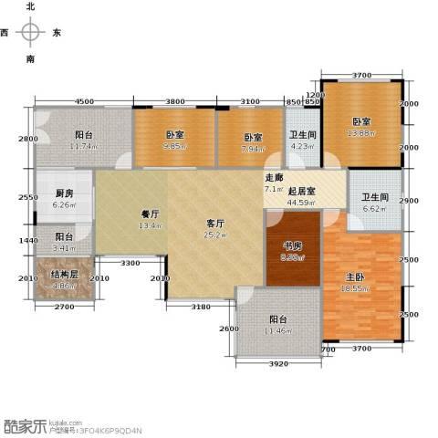 江宇天府城2室0厅2卫1厨151.92㎡户型图
