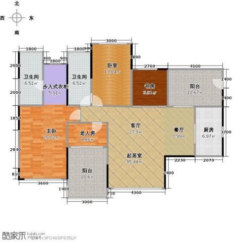 江宇天府城3室0厅2卫1厨130.00㎡户型图