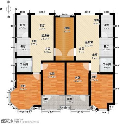 紫金园阳光海岸4室0厅2卫2厨191.00㎡户型图