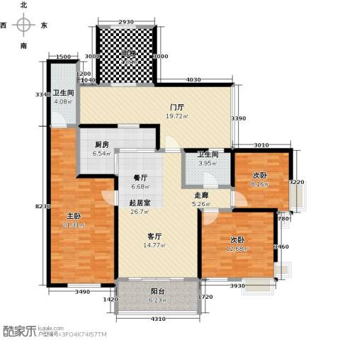 泊渡3室0厅2卫1厨165.00㎡户型图