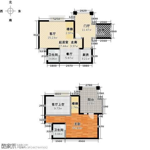 泊渡1室0厅2卫1厨135.00㎡户型图