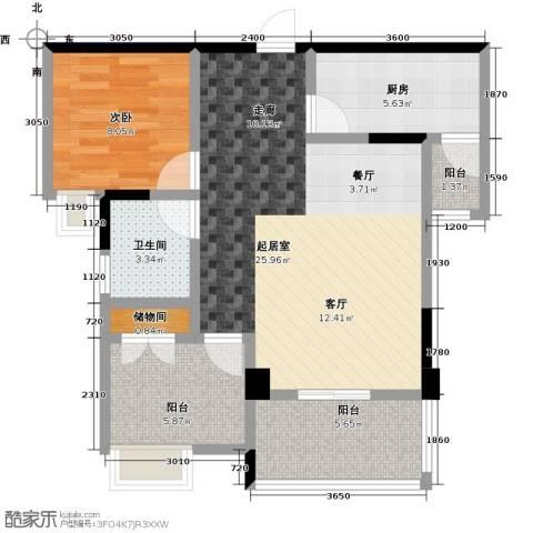英伦世家1室0厅1卫1厨82.00㎡户型图