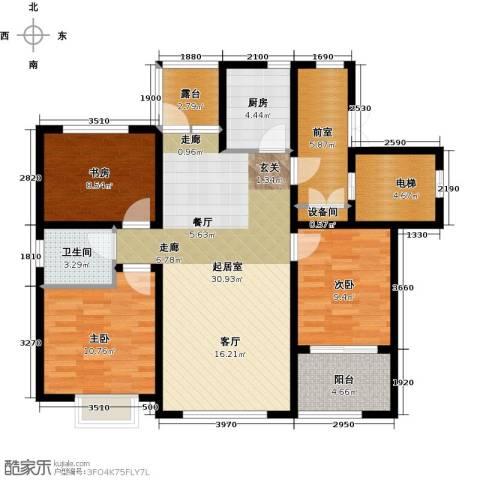 状元府邸3室0厅1卫1厨90.00㎡户型图