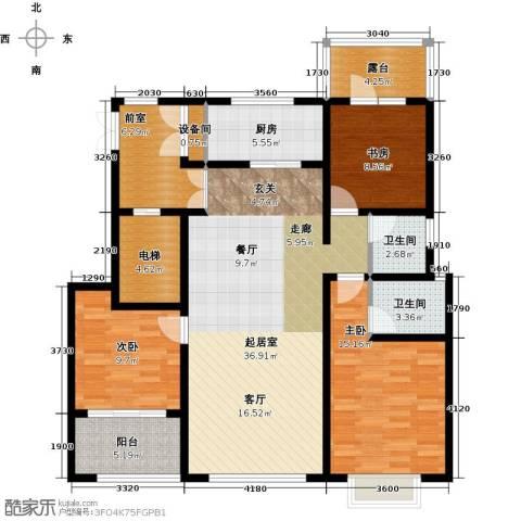 状元府邸3室0厅2卫1厨120.00㎡户型图