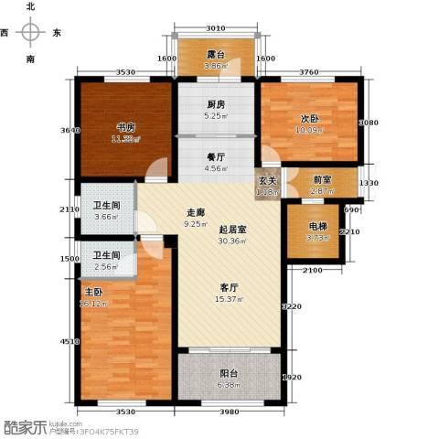 状元府邸3室0厅2卫1厨110.00㎡户型图