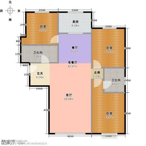 中央豪庭1厅2卫1厨127.00㎡户型图