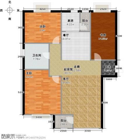金广君悦山3室0厅1卫1厨124.65㎡户型图