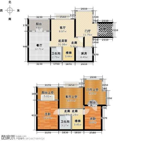 泊渡2室0厅2卫1厨163.00㎡户型图
