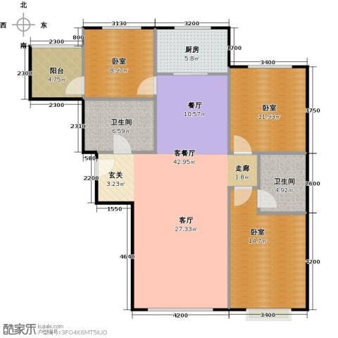 中央豪庭1厅2卫1厨135.00㎡户型图
