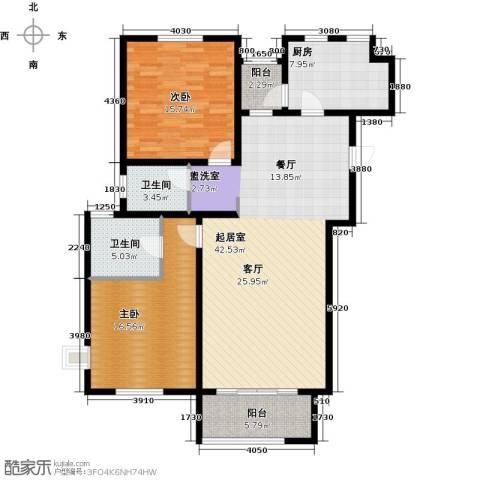 君悦花苑2室0厅2卫1厨114.00㎡户型图