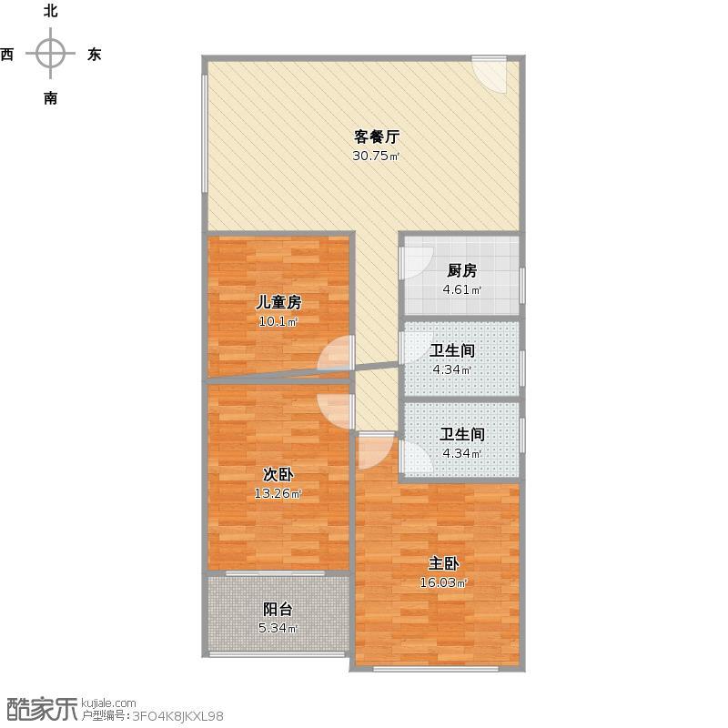 隆源+8号楼A2+改后户型