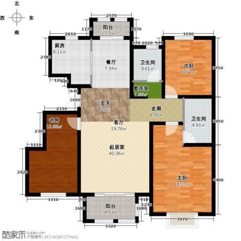 君悦花苑3室0厅2卫1厨121.00㎡户型图