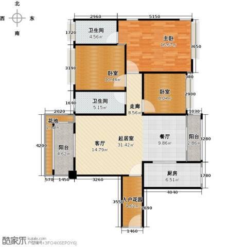 南沙创鸿汇1室0厅2卫1厨106.00㎡户型图