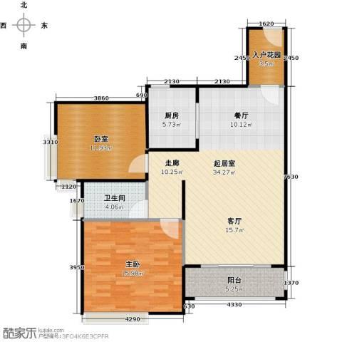 南沙创鸿汇1室0厅1卫1厨86.00㎡户型图