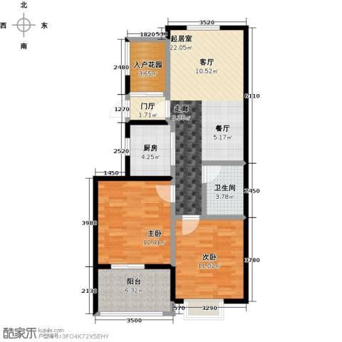 康恒嘉和豪庭2室0厅1卫1厨94.00㎡户型图
